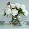 White Roses in Bowl
